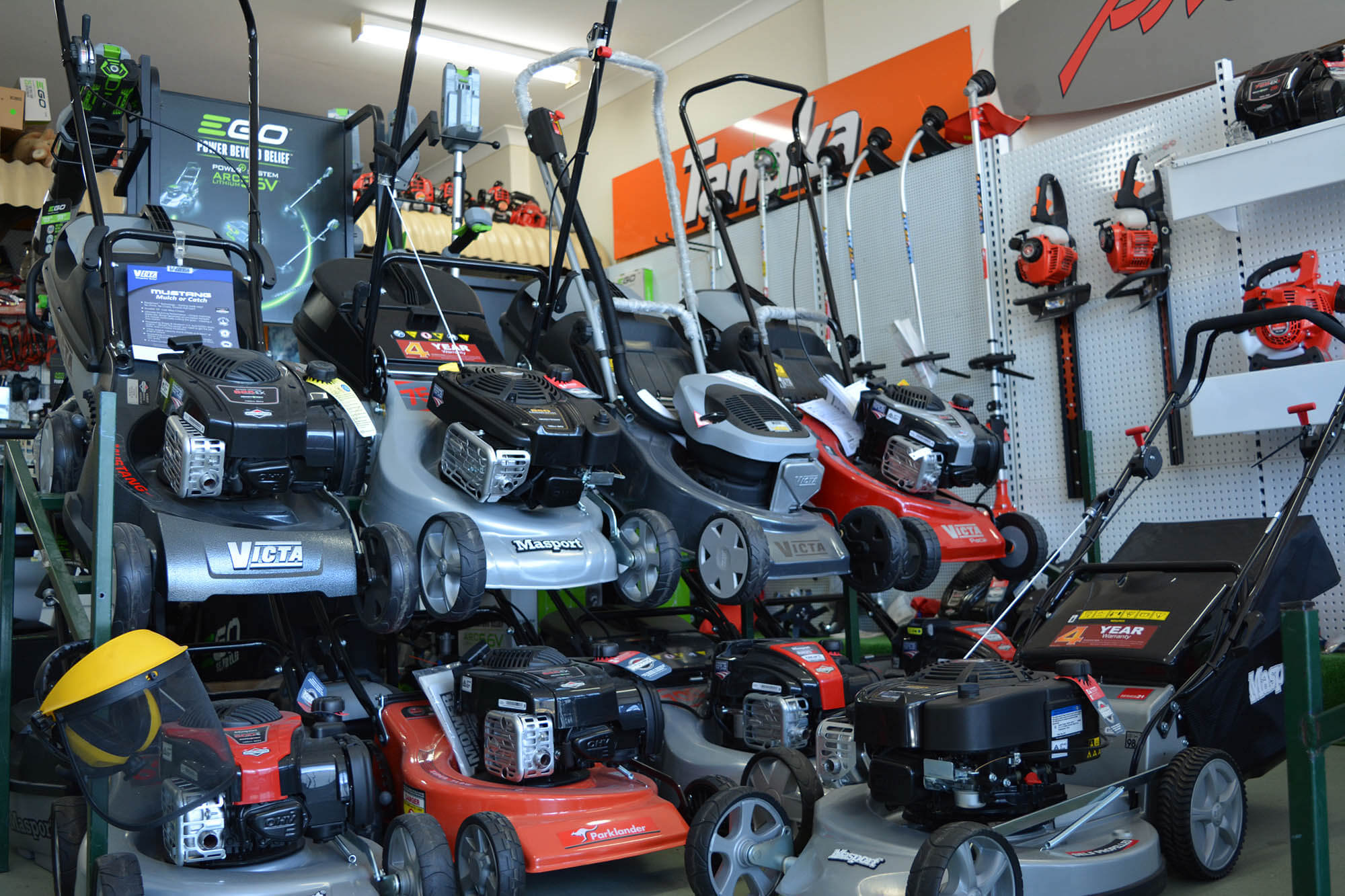 More mowers on display
